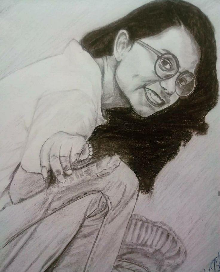 Girl Pencil Sketch. Pencil Sketch #sketchart AngEvil Ink
