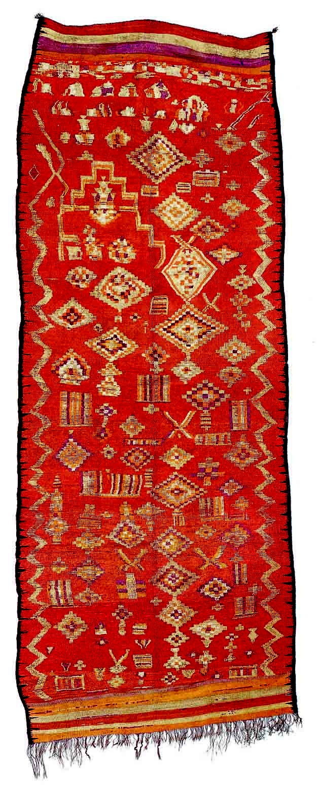 Beautiful one-of-a-kind vintage Moroccan Berber Rug ...  |Berber Tribe Fabric