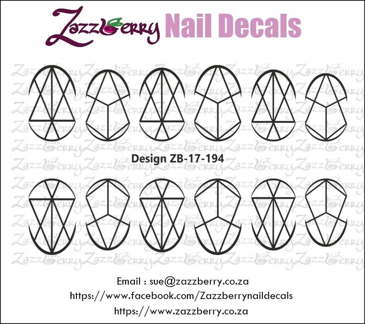 Elegant Lines Nail Decals, R45.00