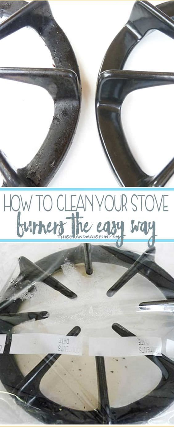 One DIY To Have A Clean Stove Burners Easily