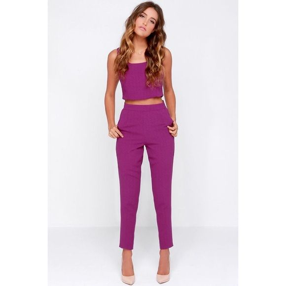 Purple two piece size small New without tags, true to size Pants Ankle & Cropped