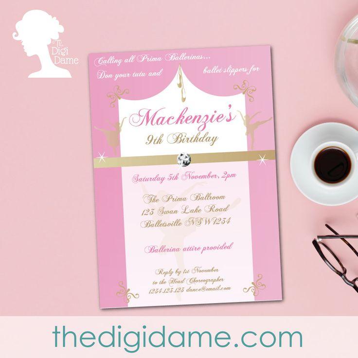 Ballerina Party Invitation Free Printable