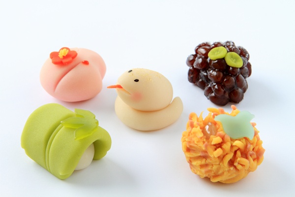 New Year wagashi (2013 is the Year of the Snake in Chinese Zodiac)