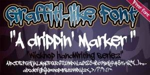 Free Graffiti Gangster Letter Fonts