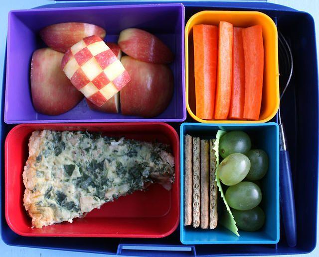Spinach and Artichoke Quiche Laptop Lunches Bento Box