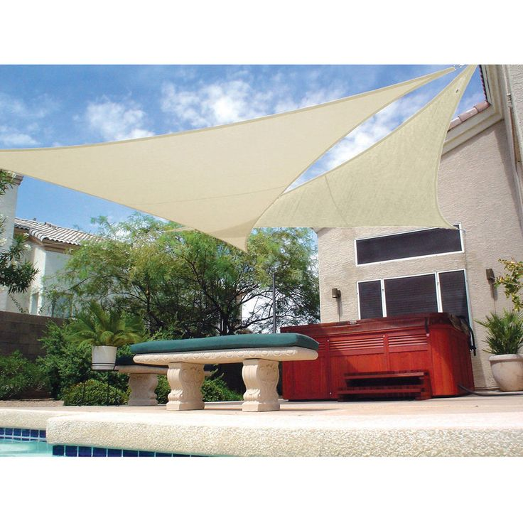 "Patio Shade Sail Tent Shelter Garden Deck Sun Protector Ready to Hang 11'10""  #PatioCanopies"