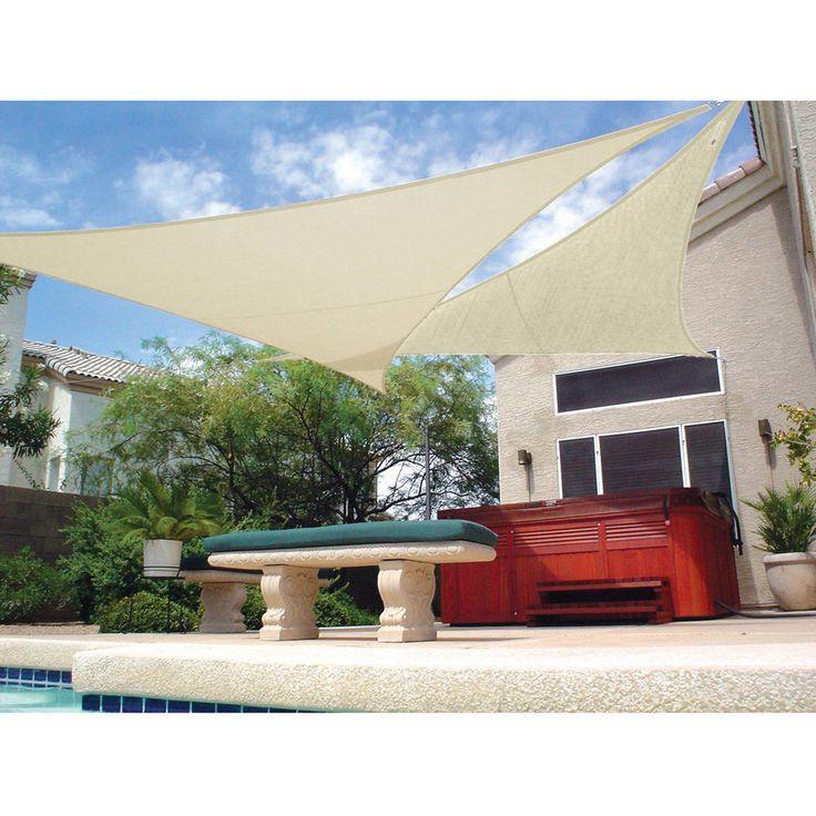 "Patio Shade Sail Tent Shelter Garden Deck Sun Protector Ready to Hang 11'10""  #PatioCanopies"