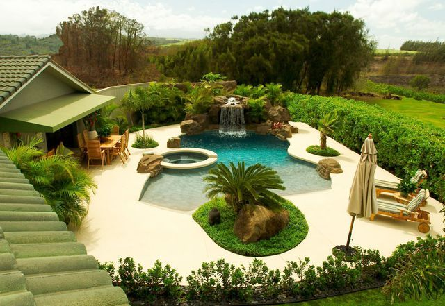 Swimming Pools built by Maui's Pool Pro swimming pool contractor