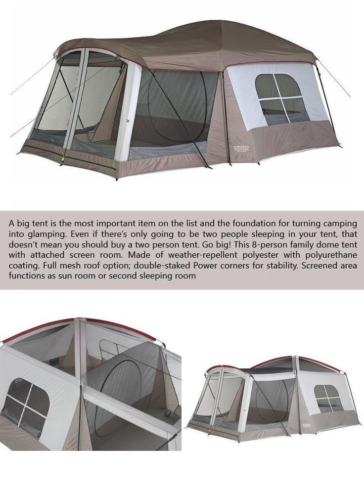 Gl& Tent with Screen Porch Best Family 6-8 Person Cabin Kit for Gl&ing Party #gl&ing #c&ing  sc 1 st  Pinterest & Glamp Tent with Screen Porch Best Family 6-8 Person Cabin Kit for ...