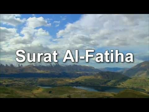 Qur'an: Amazing Recitation of Chapter Al-Fatiha ( The Opening) by Sheikh Mishary Al-Afasy