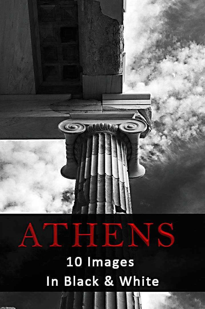 A collection of 10 images from the capital of western civilization.  http://tripandtrail.com/athens-ten-images-bw/