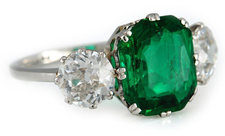 Nellie Melba's emerald and diamond ring