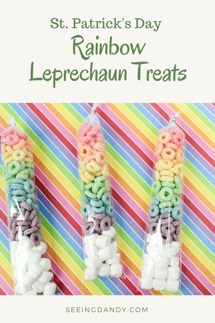 These rainbow leprechaun treats are so easy to make and perfect for St. Patrick's Day. #kids #holiday #stpatricksday #diy #foodie #nomnomnom #dessert #recipe
