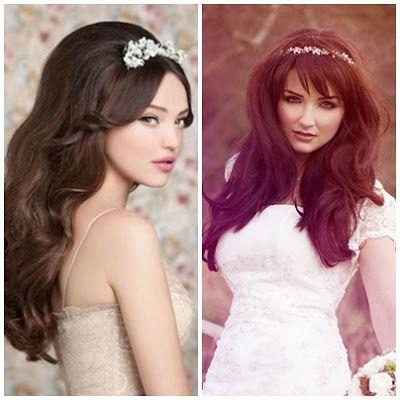 Bruidskapsels met Tiara   In White