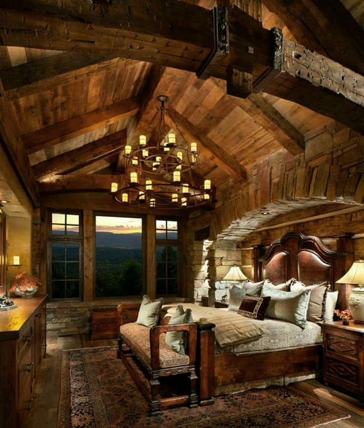 Best 25 log cabin bedrooms ideas on pinterest log cabin for Lodge plans with 8 bedrooms