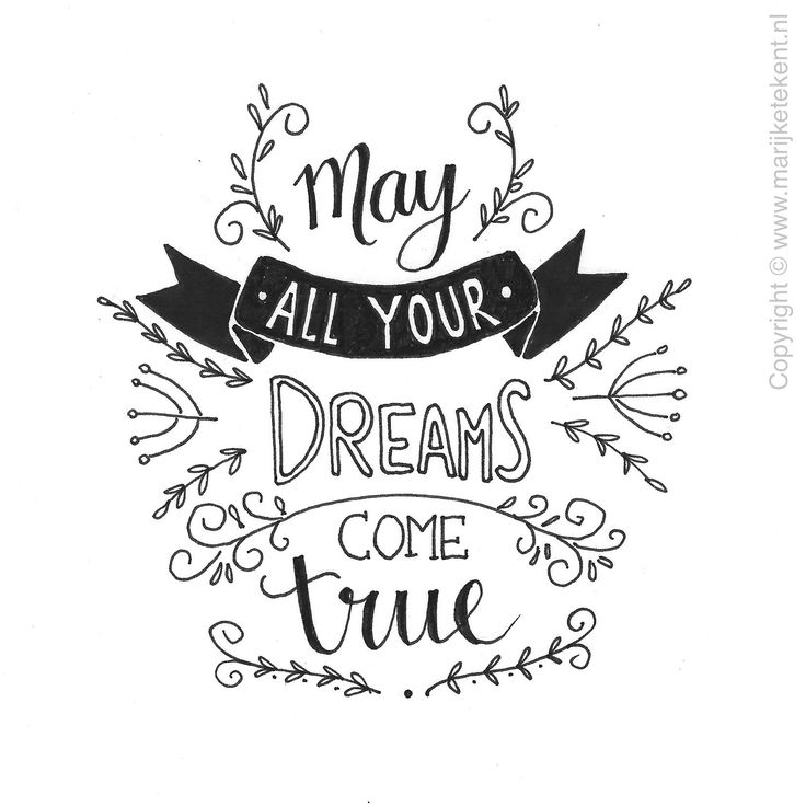 Lettering: may all your dreams come true