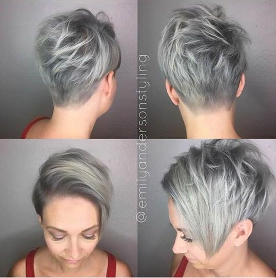 Grijs een saaie haarkleur? Deze 10 korte kapsels bewijzen het tegendeel! - Kapsels voor haar