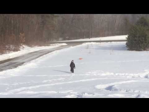 Determined little boy engages in high speed sled chase - http://blog.clairepeetz.com/determined-little-boy-engages-in-high-speed-sled-chase/