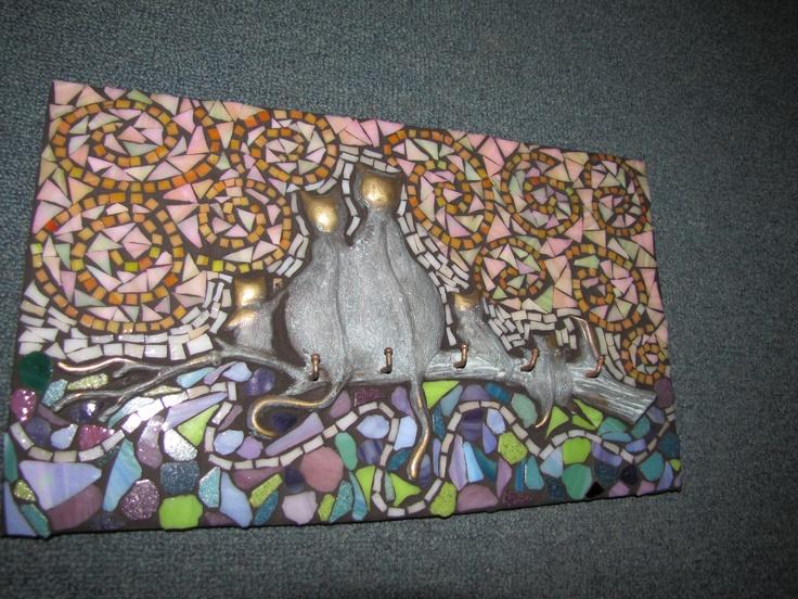 six cats by kat gottke mosaic artist from australia - Fantastisch Mosaik Flie