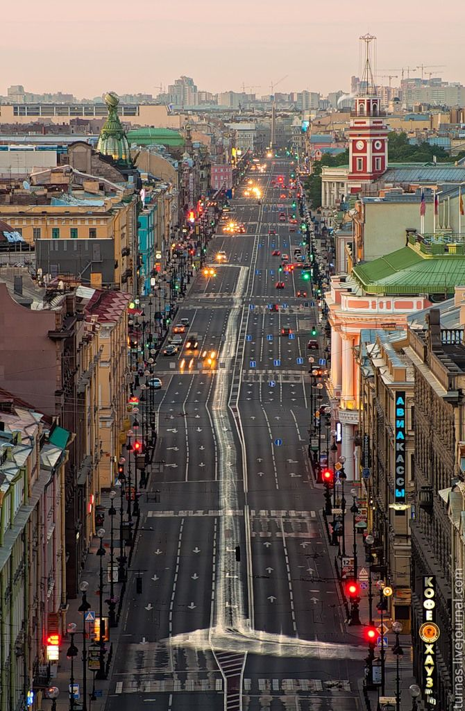 St. Petersburg, Russia: Nevsky Prospekt is the main and historical avenue of the city.