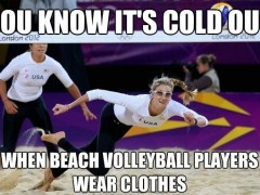 cold weather volleyball