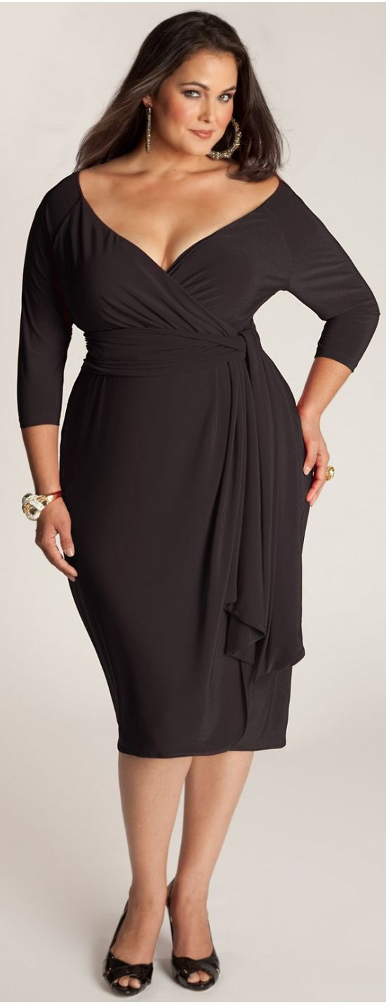Marcelle Plus Size Smart Dress in Black