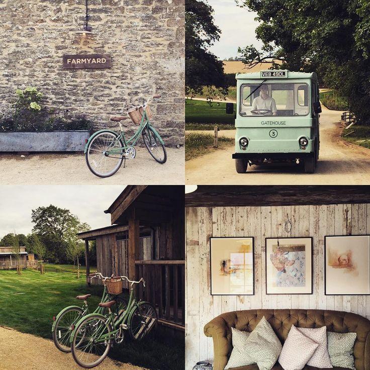Soho Farmhouse, bikes and milk floats, electrical or human powered... In style! #englishcountryside #newopening #sohofarmhouse #sohohouse #timelesselegance #bikes #milkfloat