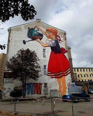 Natalia Rak Mural em Bialystok, Polônia.