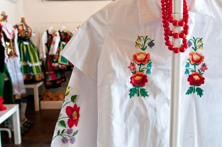 Shirts with embroidery from Łowicz