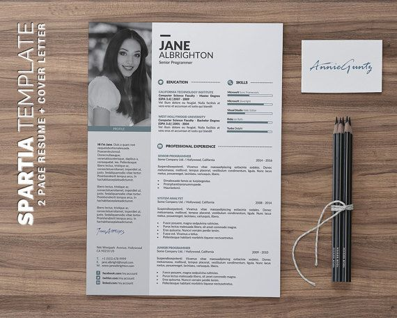 102 best Unique and Clean Resume Template images on Pinterest - Word Resume Template Mac