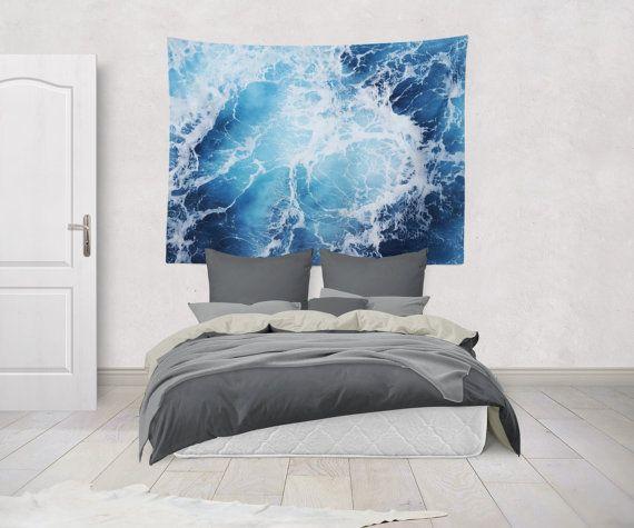 Blue Ocean Surf Wandbehang tiefblauen von NatureCityCo auf Etsy