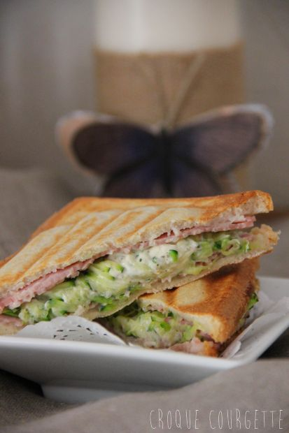 Croque Courgette, Jambon & Fromage Ail et Fines Herbes -