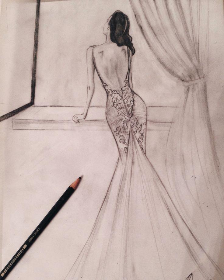 Sketching - pencil - fashion - wedding