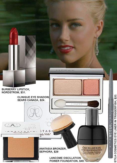 Amber Heard's Retro Makeup In The Rum Diary