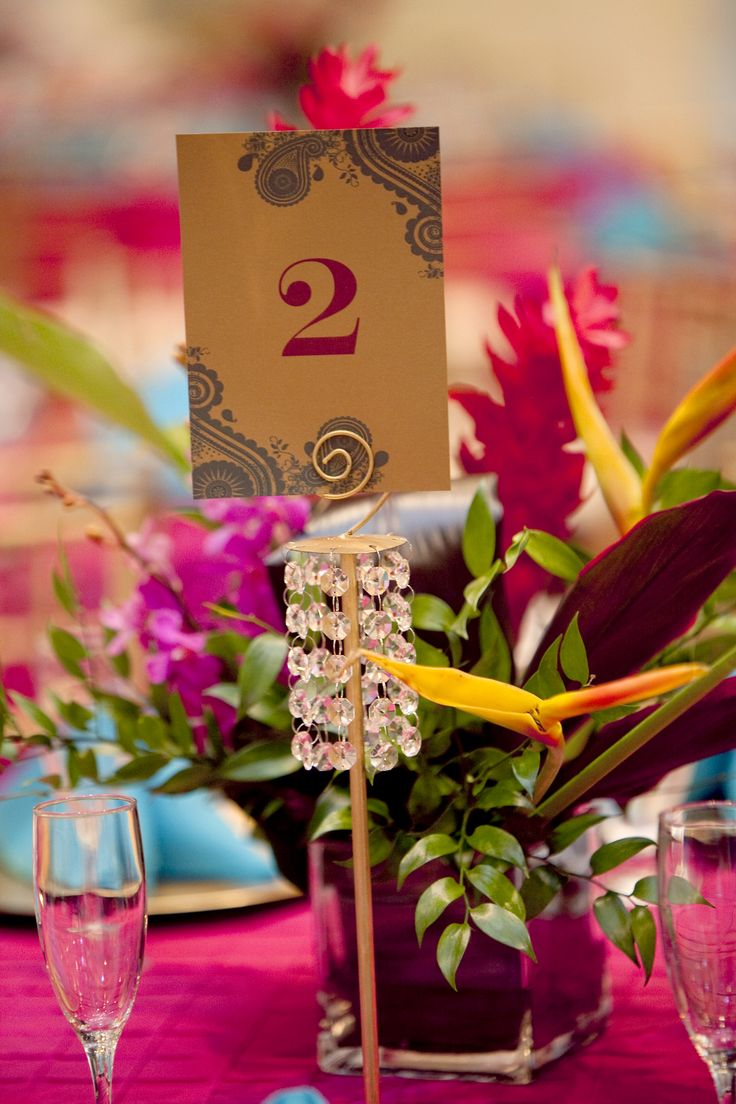 Table Numbers from an Indian Wedding - Best 25+ Indian Wedding Centerpieces Ideas Only On Pinterest