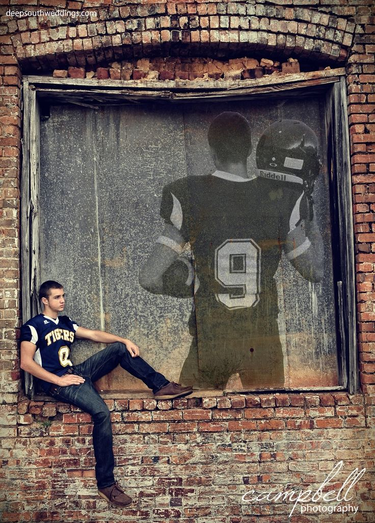 Senior inspiration, senior football, football portraits, football player, composite photo