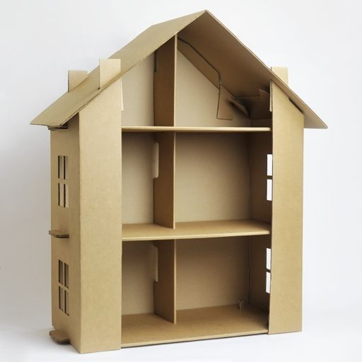 Cardboard dollhouse kit
