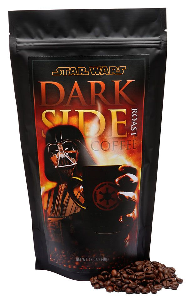 Not only does the Dark Side have cookies, but coffee too.: Tasti Recipe, Side Roasted, Darth Vader, Drinks Coff, Coffee, Stars War, Dark Side, Roasted Coff, Starwars