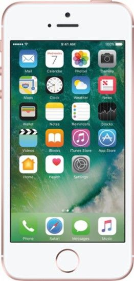 SIMPLE Mobile - Apple iPhone SE 4G LTE with 32GB Memory Prepaid Cell Phone - Rose gold - Front Zoom
