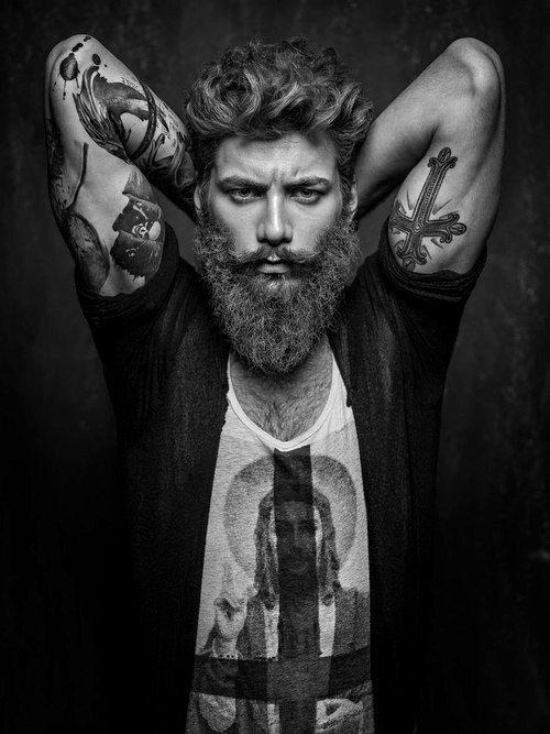Tattooed bearded man - photo#28