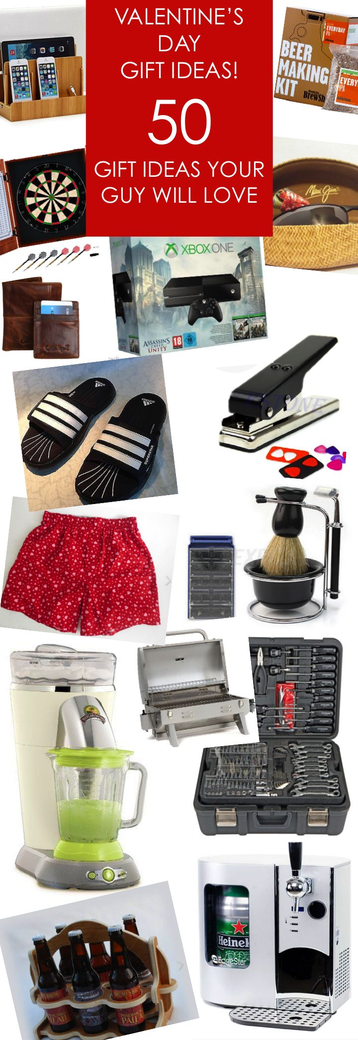 50 Valentine's Day Gift Ideas for Guys!