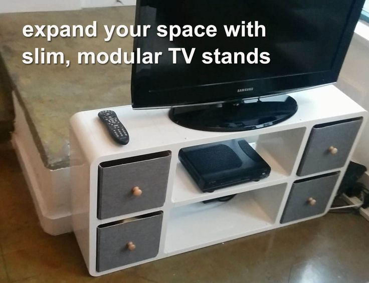 This beautiful, stylish and slim TV stand finds a spot in any corner. Expand Furniture has a myriad of smart, space savings furniture for your home.