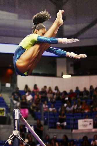 Gymnast self lick