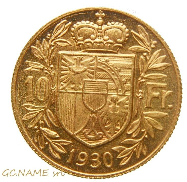 Liechtenstein. Franz I, Prince of Liechtenstein Gold 10 Franken, 1930. Rare #464
