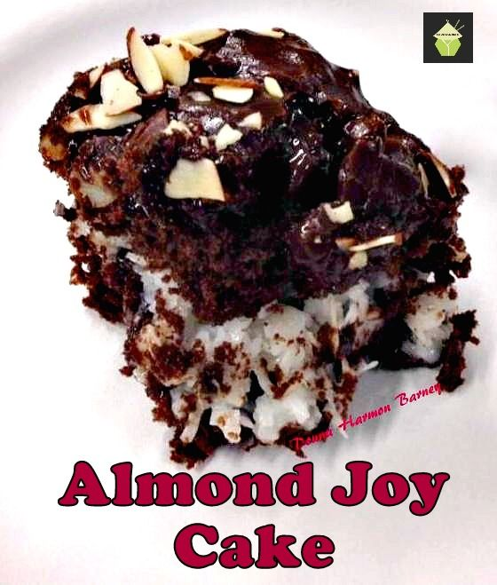 Gold Miner's  Moist Almond Joy Cake on MyRecipeMagic.com  #cake #almondjoy #baking #myrecipemagic