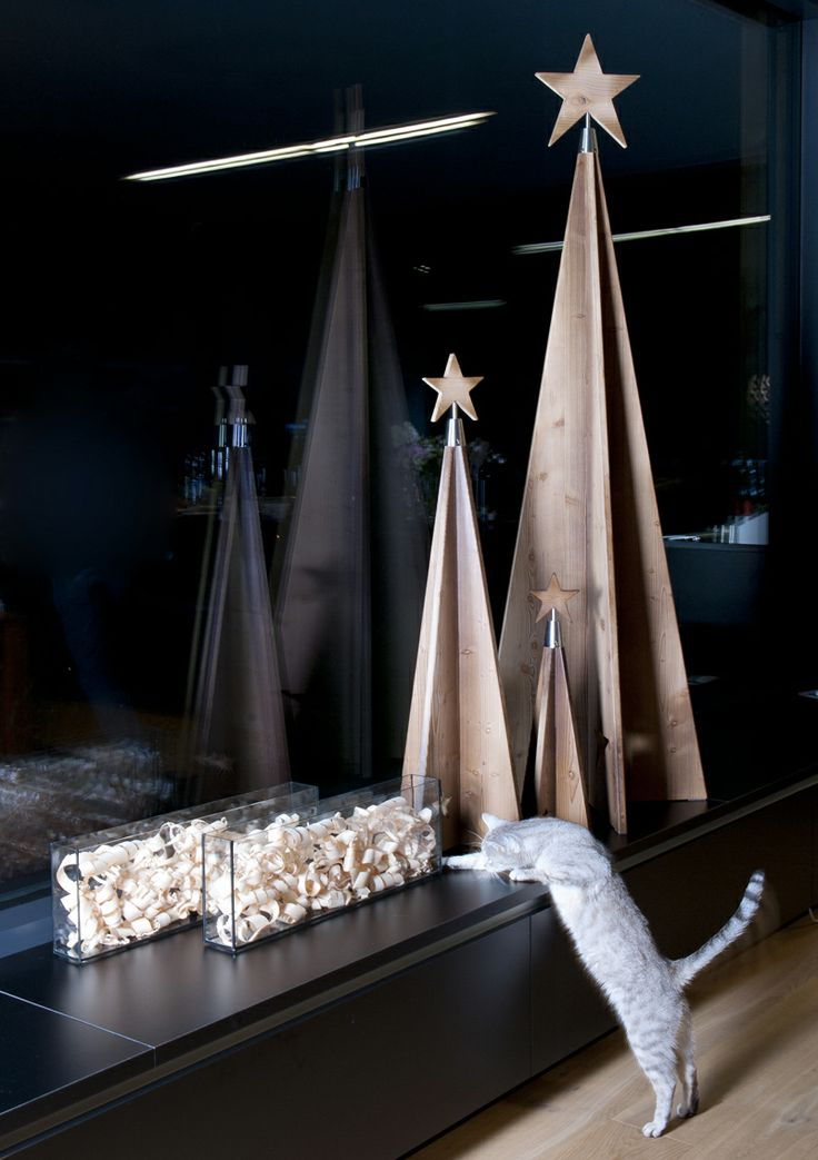 25 besten weihnachtsbaum aus holz bilder auf pinterest - Beleuchteter tannenbaum kunststoff ...