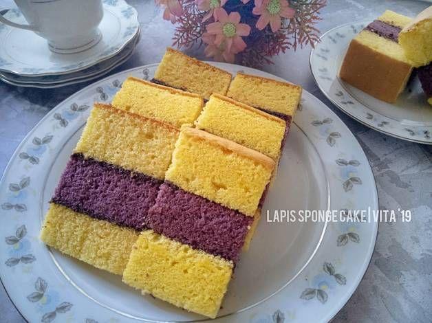 Resep Lapis Sponge Cake Talas Oleh Vita Jaurina Resep Makanan Kue Vanila Kue
