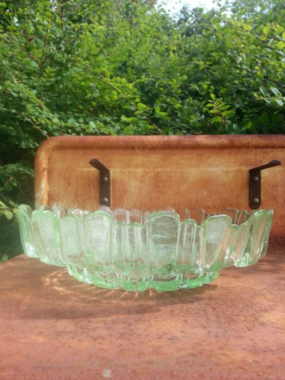 Mid Century XL Humppila glass fruit dish bowl.. made in Finland.. design Santalahti or Wirkkala..by fcollectables, €50.00