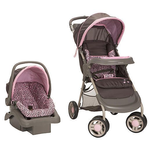 Leopard Print Infant Car Seat And Stroller