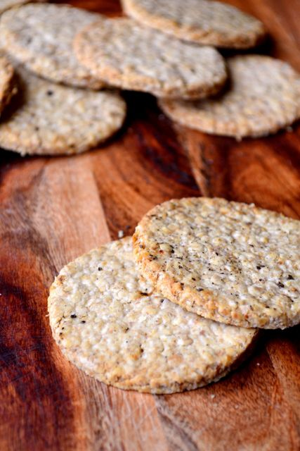 Scottish Oatcakes - a delicious twist on the Scottish classic. Made with plenty of black pepper and olive oil these pack a lot of flavour.